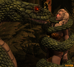 Hypnosnake and Jungle Girl 3D by hypnovoyer