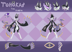 Tohoka The Scarfox (Reference Sheet) by Topaz-The-CrossCat73
