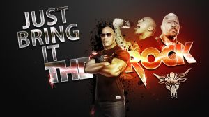 The Rock Wallpaper - WWE by roXx81