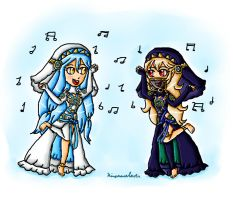 Azura and Corrin dancing by ninpeachlover