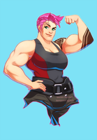 OVERWATCH - Casualish Zarya by lauren-bennett