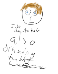 First Tablet Drawing by TimothyHD