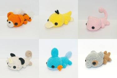 Laying Pokemon by Heartstringcrochet