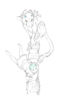 Jack and Trico by valkyriechan