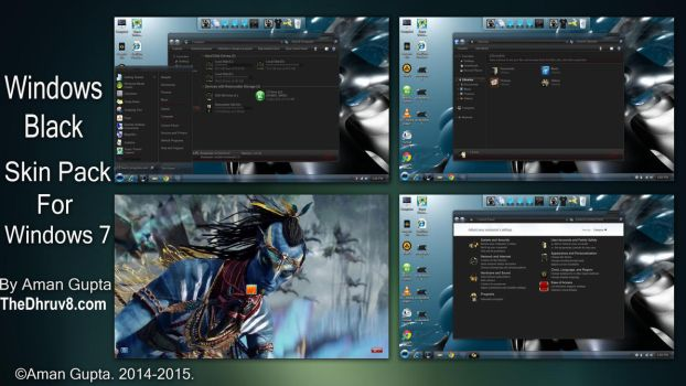 Windows Black Skinpack by TheDhruv