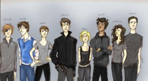 Divergent Character Lineup by Iabri71 colored by cheesebucket100