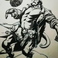 Hellboy Commission Wip by Spacefriend-KRUNK