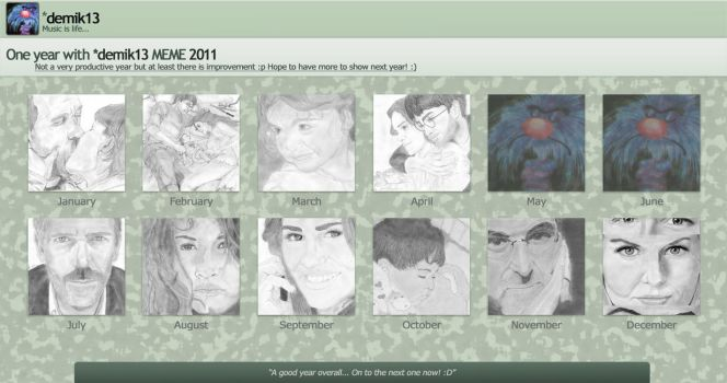 A year of art... 2011 by demik13