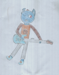 Mae playing bass by WilkerS1