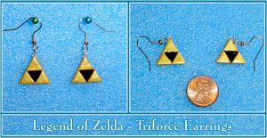 Zelda - Triforce Earrings by YellerCrakka