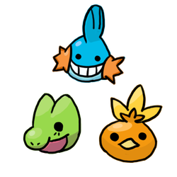 Hoenn Starters by Creationmist