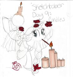 Sketchtober #9: Candles by CrystalizedFlames