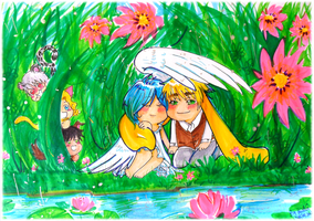 APH: Rabbit and Dove by Aonabi