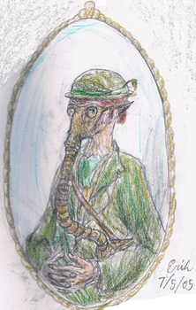 Leprechaun in a Gas Mask by Lord-Triceratops