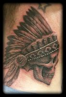 Indian skull by state-of-art-tattoo