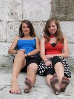 Maianne And Verena Barefoot by GiantessPics