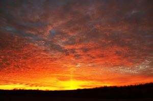 A Christmas Sunset by PinEyedGirl