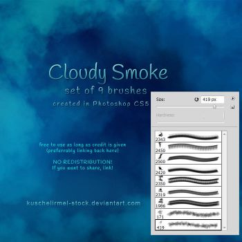 Cloudy Smoke Brushes by kuschelirmel-stock