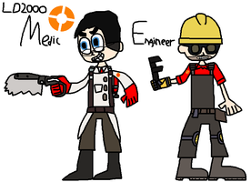 TF2: Medic and Engineer by Luqmandeviantart2000