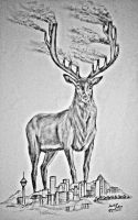 creative stag drawing series drawing 2 by mohitkumarrao