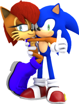 Sonic and Sally by JaysonJean