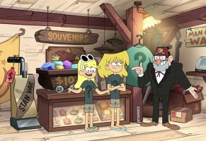 GF-TLH Crossover: Leni, Lori and Grunkle Stan by C-BArt