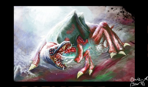 Metroid Queen Concept Art by Starshadow76