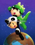 The Dino and the Panda by Thiefoworld