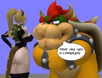 Bowser Meets Bowsette by zoid162010