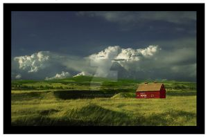 The Red Barn by Violet-Kleinert
