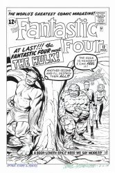 FANTASTIC FOUR #12 Cover Recreation HULK by DRHazlewood
