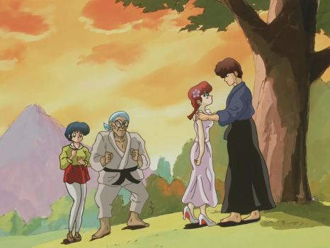 Ranma and Kuno first kiss remastered by Hainfinkle