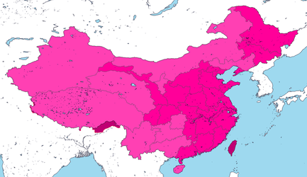 Proposed Ethno-Linguistic Subdivisions of China by DinoSpain
