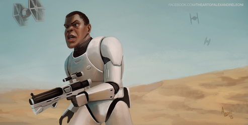 Star Wars 7 - Finn by AlexandreLeoniART