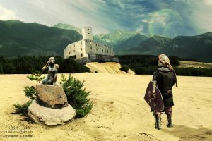 Crusaider's mirage (Castle Lipowiec) by re-pip
