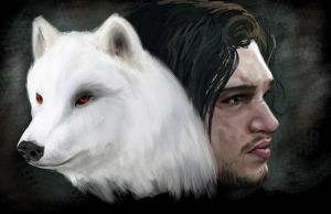 Jon Snow by ANARKYOFADOWN