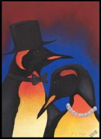 The Penguin Couple by JenTheThirdGal