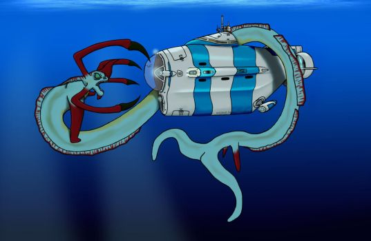 Subnautica Reaper vs Cyclops by pitsmat