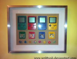 Game Boy and Pokemon frame by Ishtar-Creations