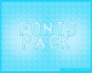 50 Fonts Pack | 50 Watchers by AlleakiMikaela