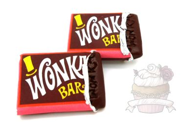 Movie inspired Wonka bar scented brooch by ilikeshiniesfakery