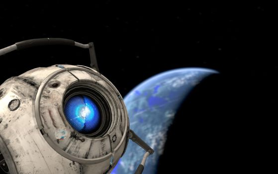 Wheatley in space by Angesteckt