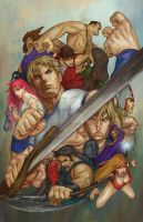 Final Fight DI Coloring by Asterisks