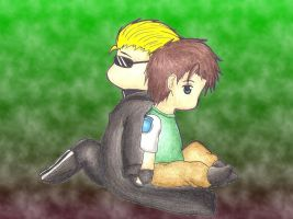 Chibi Wesker And Chris by MadeInHeavenFF15