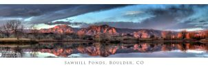 Sawhill Ponds and Flatirons by imucus