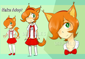Adopt: Neko Girl (CLOSED) by Whoodles
