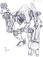 Dog robot by HelioSaara