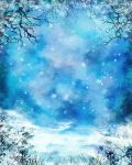 Winter Painted Background by Cynnalia-Stock