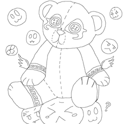 Maleria's Possessed Teddy Overlay (lineart) by DarkPoetOfRivendell