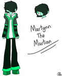 New OC-Martynn The Martian by HerrenLovesFNAF